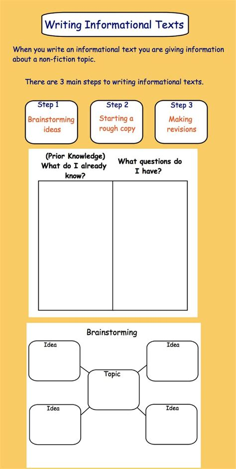printable graphic organizer for informational writing writing an informational text gr 3 4 pdf with printable
