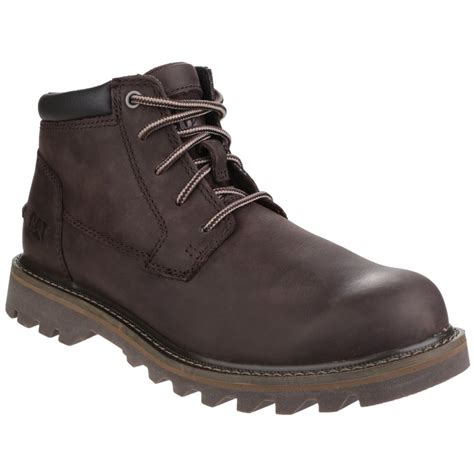 caterpillar doubleday lace up brown boots shoes co uk