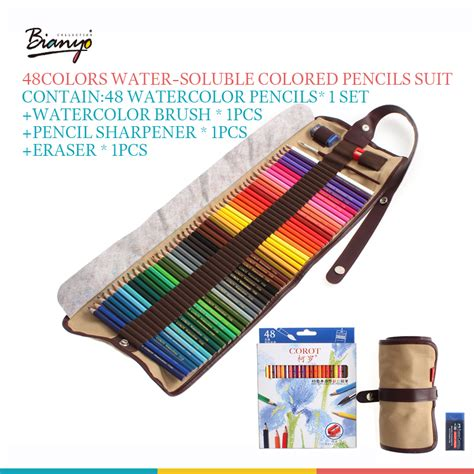 water colored pencils corot safe non toxic indonesia lead water soluble colored