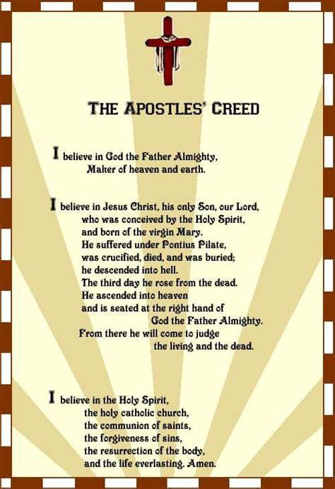printable version nicene creed apostles creed the apostles creed true love