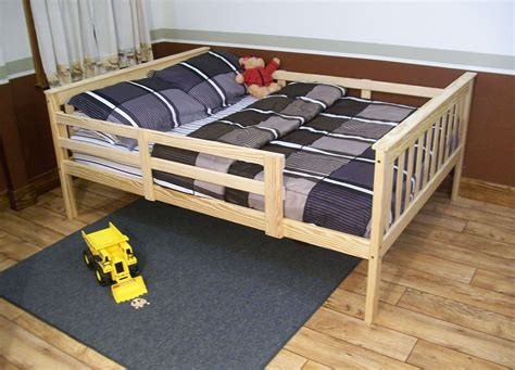 size bed safety rails platform bed with guard rail versa style or size