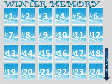 Winter Memory Game By Evaszucs Teaching Resources Tes Memory Template Powerpoint
