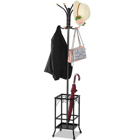 Standing Hat Rack by Standing Coat Hat Rack W Umbrella Holder 8 Hook Steady
