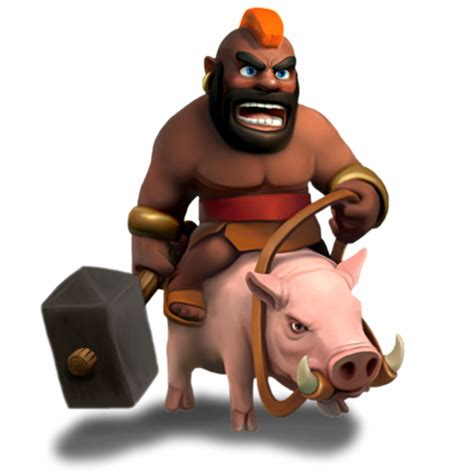 clash of clans troop characters hog rider character