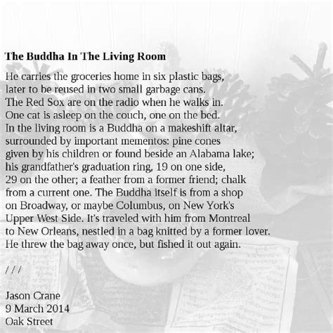 poems about bedrooms poem the buddha in the living room jason crane dot org