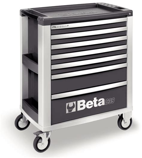 Cabinet Beta beta tools c39g 7 mobile roller cabinet tool box 7 drawers roll cab grey ebay