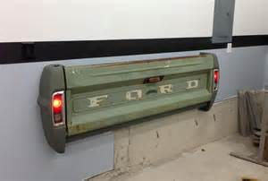 tailgate bench on wall great idea love the functional lights needs to be