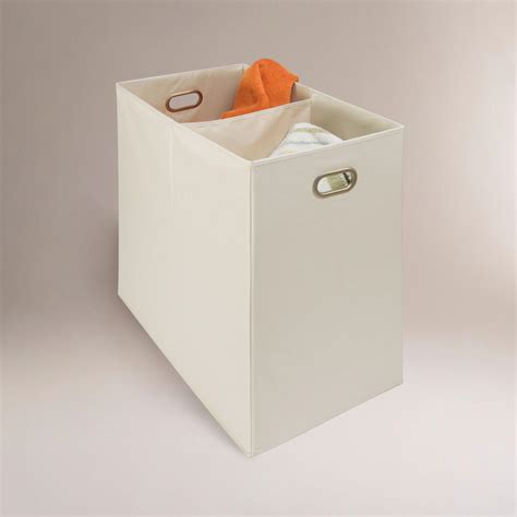 Canvas 2 Compartment Laundry Her World Market Two Compartment Laundry
