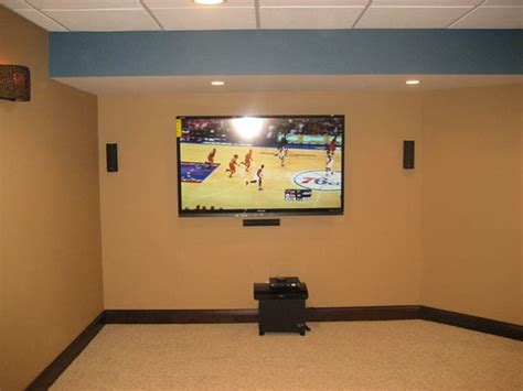 80 Inch Tv On Wall by Basement Home Theater With 80 Inch Tv On The Wall Yelp