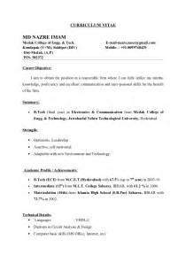 Sample Formal Resume – 6  formal cv format sample   Financial Statement Form