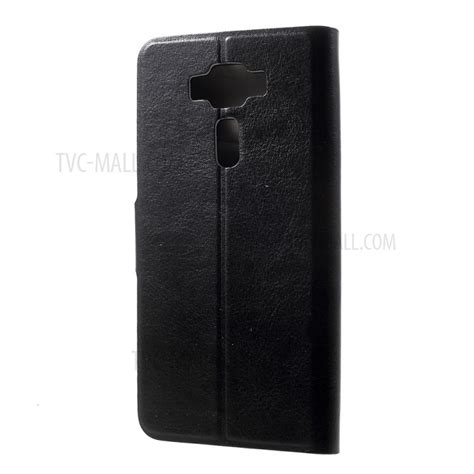 leather stand for asus zenfone 3 deluxe zs550kl 5 5 inch built in steel sheet