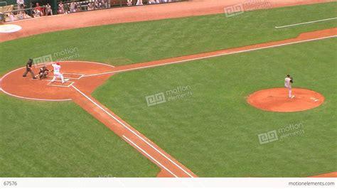 baseball stadium home run stock footage 67576