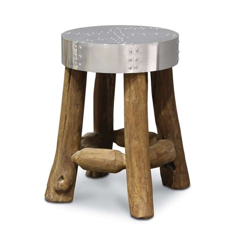 wood top bar stools carved wood stool with rivet top