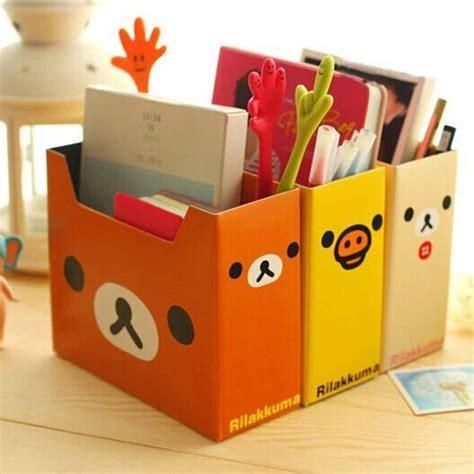 Cardboard Desk Drawers by 3pcs Rilakkuma Diy Cardboard Storage Box Pen Holder