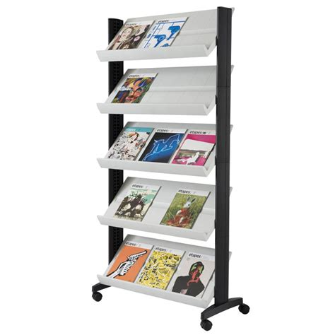 Magasine Rack by Xl Paperflow Model 255n Single Side Magazine Rack Office