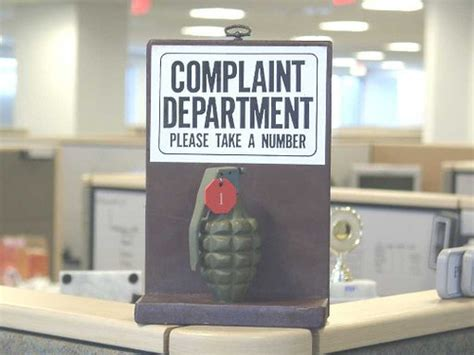 Complaint Department by Complaint Department Take A Number Grenade Flickr