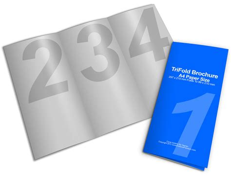 latest of brochure paper stock matte finish tri fold brochures