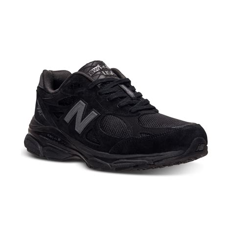 mens black sneakers new balance mens 990v3 running sneakers from finish line