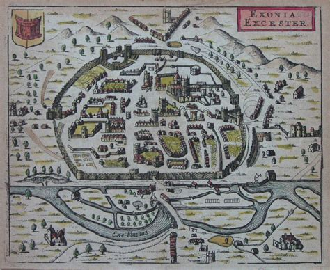 printable map exeter antique map of exeter hermannides