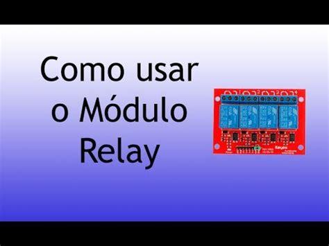 como usar módulo relé (relé shield) com arduino youtube