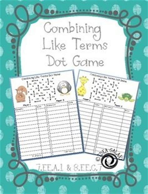 Combining Like Terms With Integers Worksheet by 17 Best Images About Ee On Cut And Paste