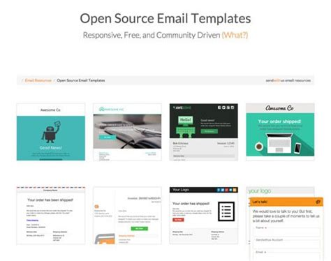 Htmlメールの無料テンプレートをお探しなら Open Source Email Templates Co Jin Open Source Website Templates