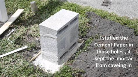 How To Build A Concrete Block House by Build A Mailbox Out Of Cement Blocks Youtube