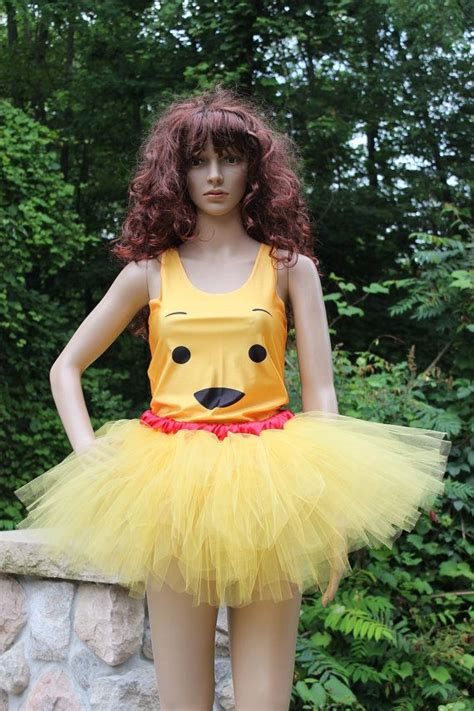 set complete outfit tank top tutu skirt winnie pooh bear