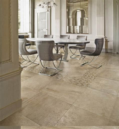 dining room with patterned travertine tile floor porcelain tile flooring modern and durable home flooring