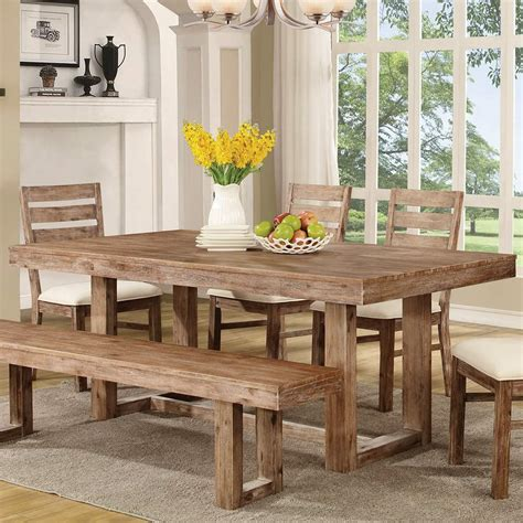 Dining Room Kitchen Tables Elmwood Rustic Quot U Quot Base Dining Table