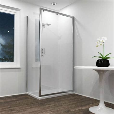 Shower Doors 1200mm Jupiter 1200mm X 700mm Sliding Shower Door With Side Panel Shower Enclosure Silver