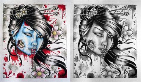 geisha tattoo book zombie geisha tattoo designs tattoos book 65 000