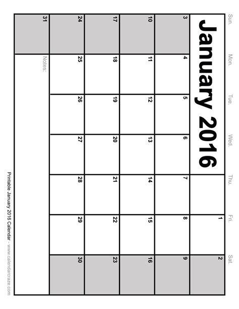 blank calendar template monday through friday calendar 2016 printable monday thru friday blank