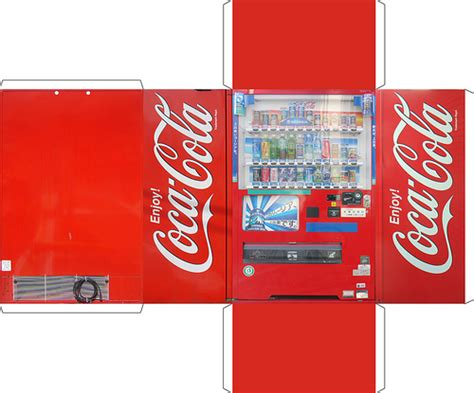 Paper Craft Machine - vending machine obsessive creates papercraft version of