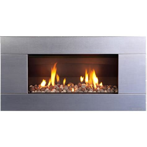 Rocks For Fireplace by Escea St900 Indoor Gas Fireplace Stainless Steel With With New Zealand River Rock