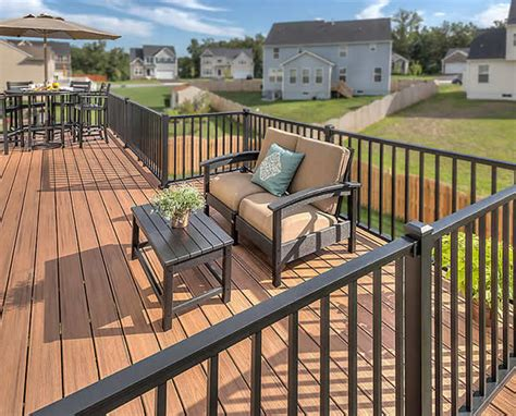 Aluminum Railing Systems Sturdy Aluminum Railing Systems With A Sleek And Beautiful