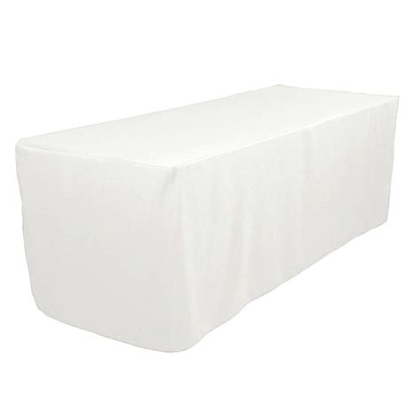 5 ft fitted polyester table cover wedding trade show