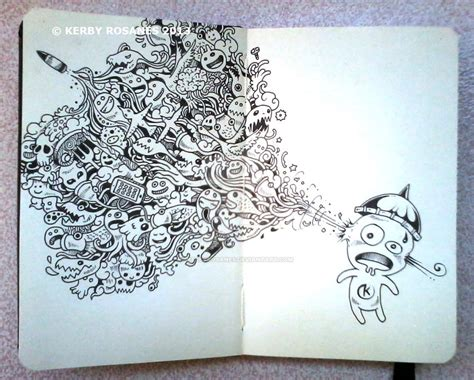 creative doodle ideas moleskine doodles creative by kerbyrosanes on