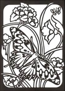stained glass coloring books butterflies stained glass coloring book 047294 details