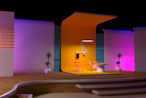 zyad fathy tv studio set design   doctors talk show