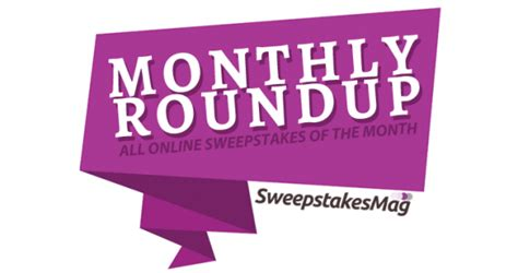All You Monthly Sweepstakes - sweepstakesmag weekly roundup october 30 november 5 2016