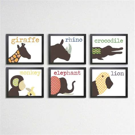 Jungle Wall Decor For Nursery Jungle Animals Nursery Prints Jungle Decor Wall Child