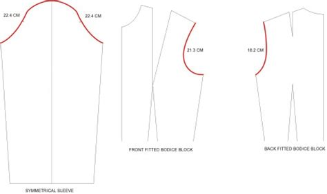 pattern drafting instructions for women s basic bodice how to draft sleeve pattern with no ease sleeve cap