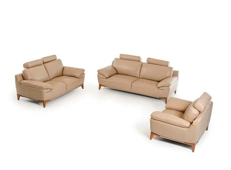 leather sofa sets contemporary taupe leather sofa set vg410 leather sofas