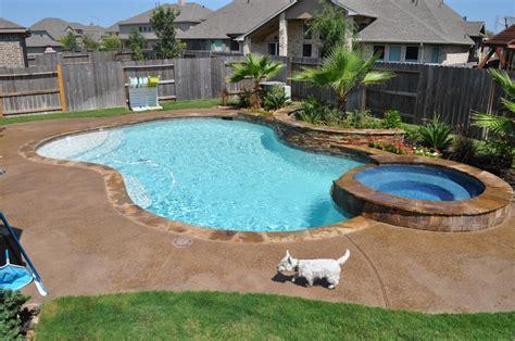 Backyard Pools Houston Free Form Swimming Pool And Spa In Katy Tx Houston Tx