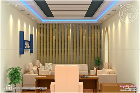 New Home Interior Design Photos Home Office Interior Design By Siraj V P Home Kerala Plans
