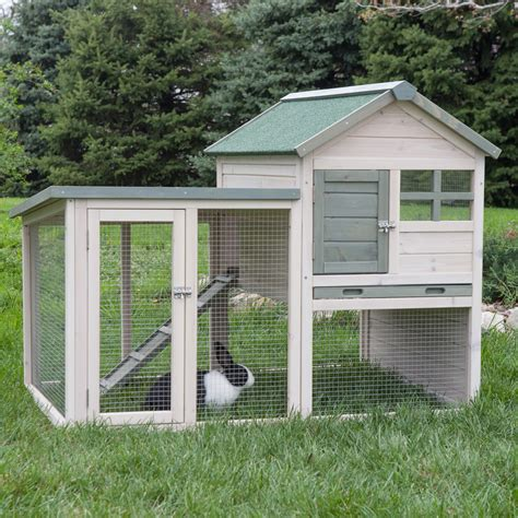 How To Build A Pig Barn Boomer Amp George White Wash Rabbit Hutch Rabbit Cages