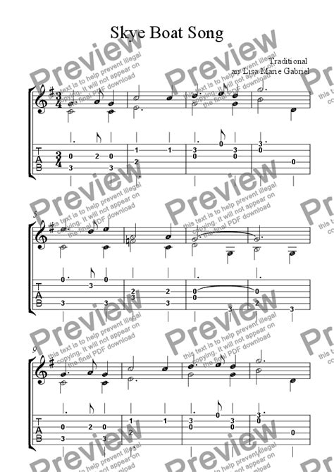 boat song tabs skye boat song easy classical guitar solo with tab