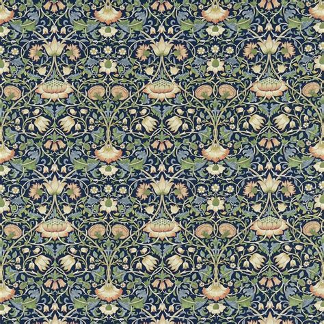 victorian upholstery fabric william morris lodden fabric indigo mineral 222521