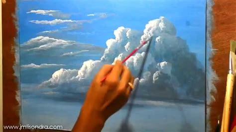 acrylic paint time how to paint clouds in acrylic time lapse painting by